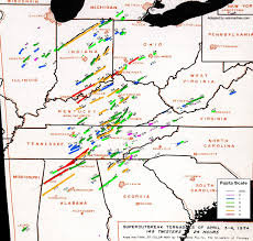 Map Of Bowling Green Ohio by Looking Back At The April 3 4 1974 Super Outbreak U S Tornadoes
