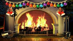 virtual christmas fireplace yule log with music free video 1080p