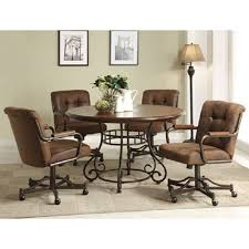 Plain Dining Room Chairs With Arms And Casters Home You Can See A - Dining room chairs with rollers