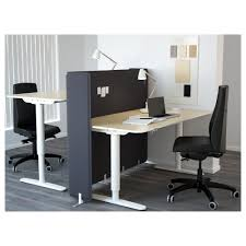 Ikea Working Table Bekant Desk Sit Stand With Screen Gray Black Ikea