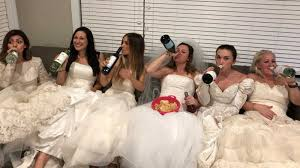 wedding pictures women celebrate friend s divorce with epic party wearing their