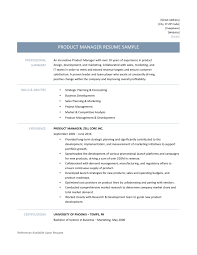 how to write team player in resume product manager resume samples template and job description product manager resume template