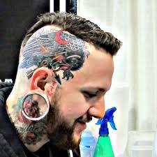 new head tattoo by derek noble at star of texas tattoo art u2026 flickr