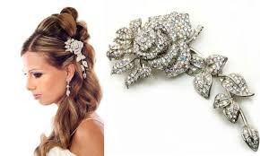 bridal hair brooches the must accessory for 2009