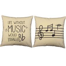 halloween cushions music decorative pillows life would be flat quote throw pillows