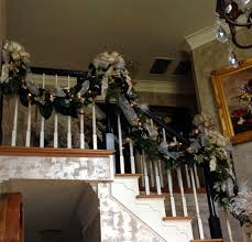 Banister Decorations A Perfect Setting Foyer Re Do With Christmas Decor