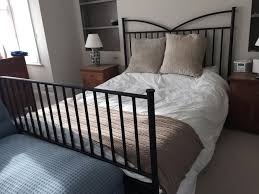 Ikea Bed Frame King Size Bedroom Charming Bedroom Decoration Using Black Iron Metal King