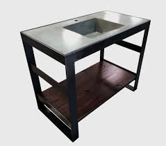 buy a hand crafted open frame steel and reclaimed oak bath vanity