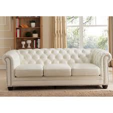 leather sofa with nailheads amax leather c9818s2175ls monaco 100 leather sofa in diamond