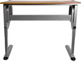 Steel Drafting Table Adjustable Drawing And Drafting Outlet Table With Pewter Frame