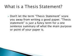 don u0027t let the term u201cthesis statement u201d scare you away from writing