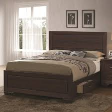 coaster fenbrook transitional queen bed with storage drawers