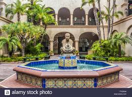 Spanish Style Courtyards by Spanish Style Fountain In The Courtyard At The Prado Restaurent In