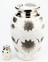 urns uk 10 inch metal urn brass burford pearl white amazon co uk