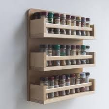 Kitchen Cabinet Spice Organizers by Furniture Tiered Wooden Spice Rack Organizer For Kitchen