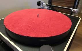 platter mat studio leather turntable platter mat