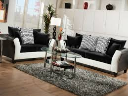 Stunning Black And White Living Room Set Photos Awesome Design - Black living room set