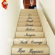 courage quotes stair step basket removable stair wall decals
