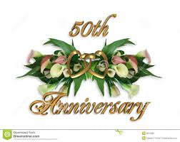 50 wedding anniversary wedding anniversary calla lilies 50th stock illustration