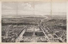 Birds Eye View Maps Paris 1860 U2013 Aspect Général De Paris Majesty Maps U0026 Prints