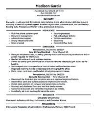 exles of customer service resume receptionist resume objective receptionist resume is relevant with