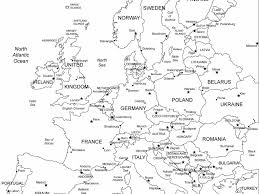 Blank Maps Of Europe To Print by Download Printable Map Of Europe With Countries Major Tourist