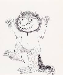 where the wild things are coloring book where the wild things are pencil drawing