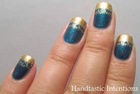 handtastic intentions nail art golden french tip
