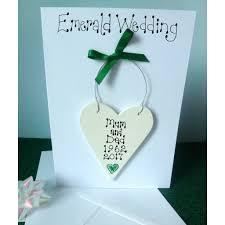 wedding anniversary cards personalised emerald wedding anniversary card by country heart