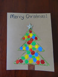 homemade christmas cards using fingerprints christmas tree