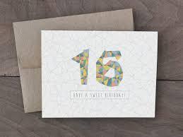 Sweet Birthday Cards Handmade Birthday Card Sweet 16 Birthday Card Geometric