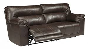 Power Leather Recliner Sofa Barrettsville Durablend Chocolate 2 Seat Reclining Sofa W