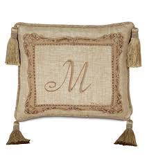 Eastern Accents Furnitures Decoration Monogram Pillow Home Design By John