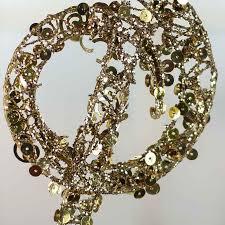 gold sequin treble clef ornament ornaments