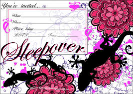 teenage birthday party invitation templates invitations for sleepover party