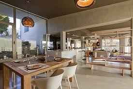 dining room open plan living diamond house alicante spain by