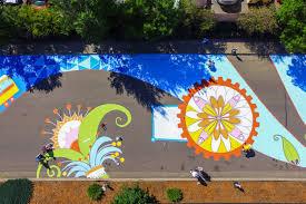 painting mural two weekends street aurora colorado hand painted lakewood mural large wall art mural mural art mural
