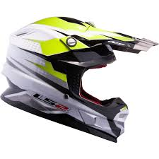 motocross helmets ls2 mx456 48 white hi vis yellow factory motocross helmet mx hi
