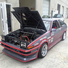 toyota ae86 corolla toyota ae86 with an electric motor engine depot