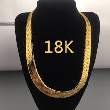 chain length mens necklace images U7 men necklace 18k gold color stainless steel mens snake chain jpg