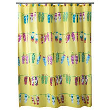 Shower Curtain Beach Theme Beach Themed Bathroom With Polyester Yellow Shower Curtain And