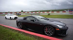 youtube lexus lfa vs nissan gtr lexus lfa revving loud around a racetrack bonus lexus rcf