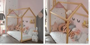 cabane fille chambre chambre enfant le lit cabane décoration créative