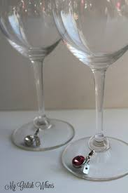 diy wine glass charms with swarovski crystals my girlish whims