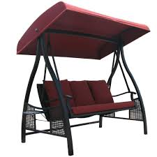 Lounge Swing Chair Amazon Com Abba Patio 3 Person Outdoor Metal Gazebo Padded Porch