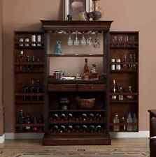 Folding Home Bar Cabinet Wooden Portable Folding Home Pubs U0026 Bars Ebay