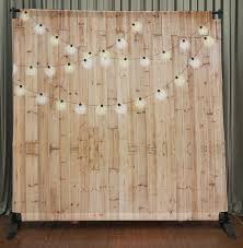 wood backdrop 8x8 printed tension fabric backdrop light wood w string lights