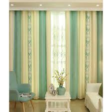 Green And Beige Curtains Green Solid Patio Door Pom Pom Curtains