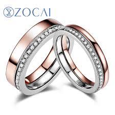18k white gold wedding band online shop zocai 0 26 ct certified diamond wedding bands 18k