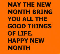 happy new month messages wishes for friends and ones